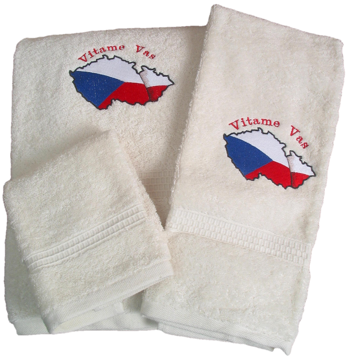 Czech Vitame Vas Country Embroidered Bath Towels