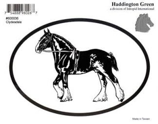 Haddington Green Clydesdale Draft Horse Oval Decal