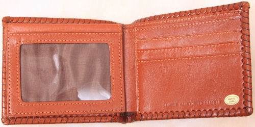 Leather bi-fold wallet - Inside view 1