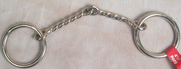 4 1/2 Inch Twisted Wire Pony Bit Nickel Plated