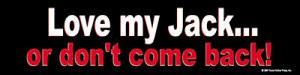 Love My Jack Bumper Sticker