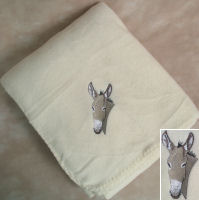 Horse, Mule, Donkey Embroidered Throws