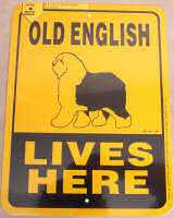 Old English Lives Here Sign