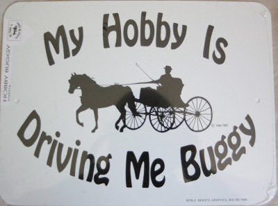 Sign: My Hobby is Driving me Buggy