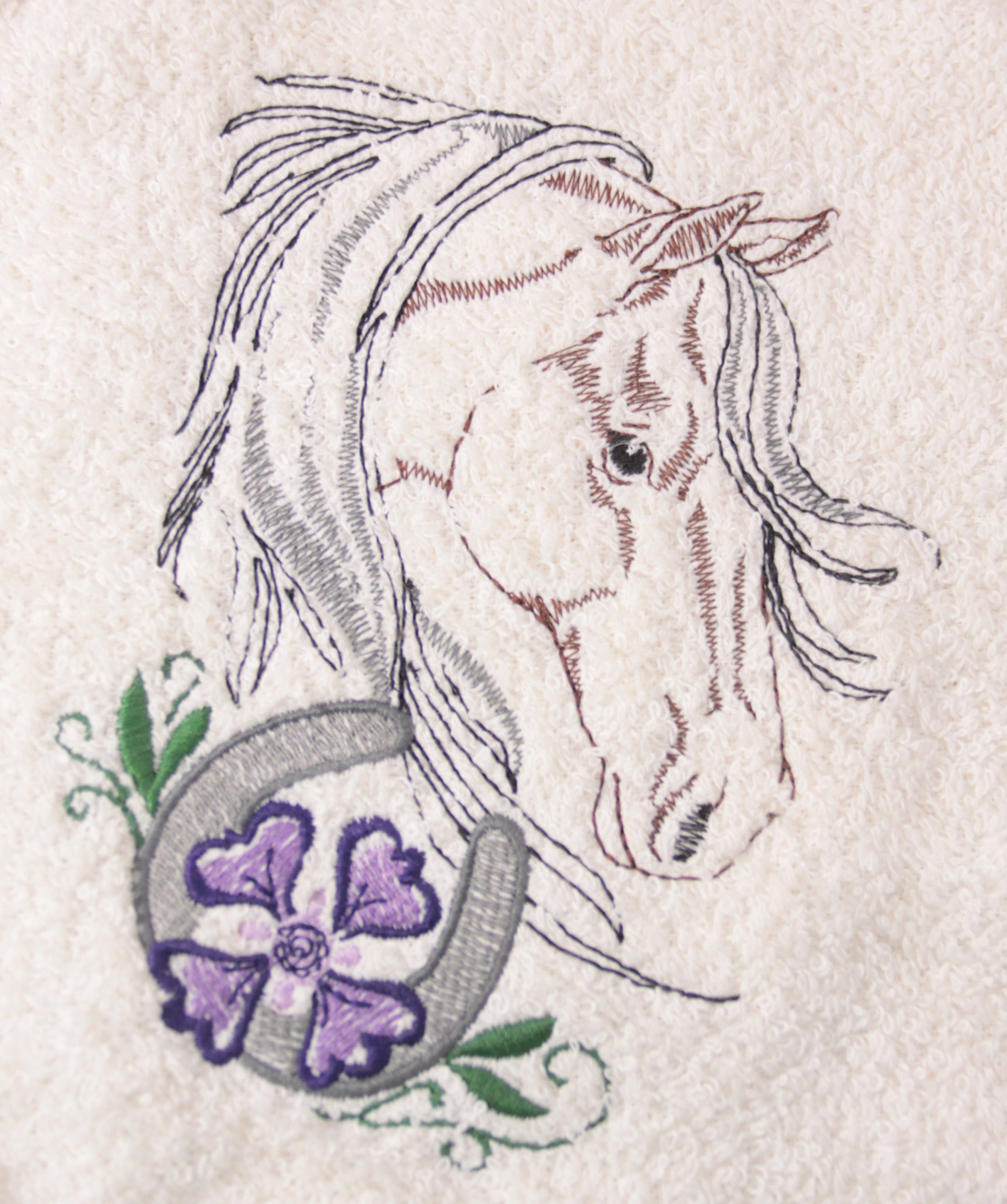 Horse Head, flower and horseshoe