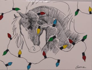 Boxed Christmas Cards: Horse Head and Holiday Lights