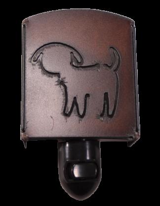 The Rustic Barn - Rustic Metal Cute Dog Night Light
