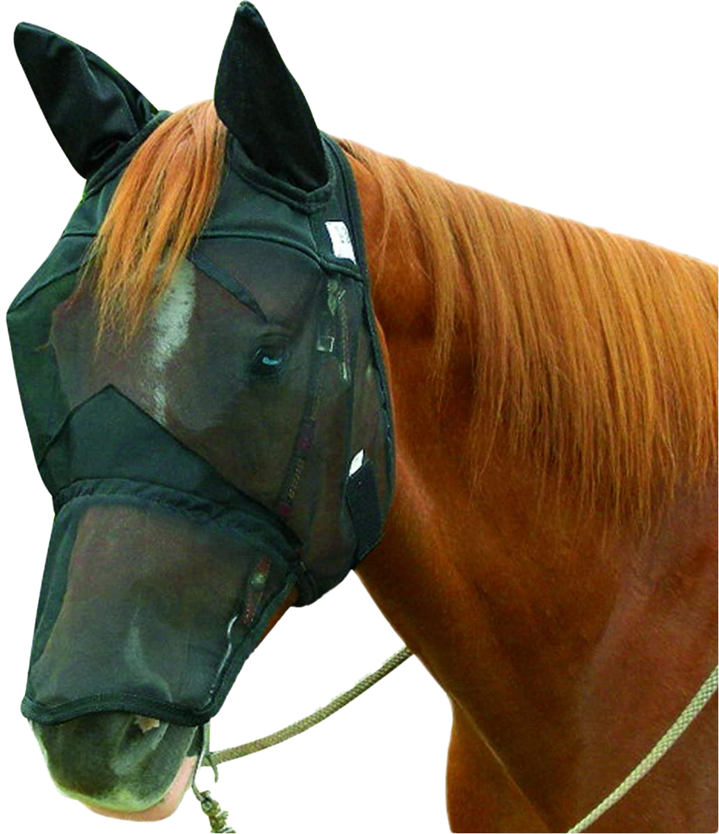 Quiet Ride Long Fly Mask by Cashel