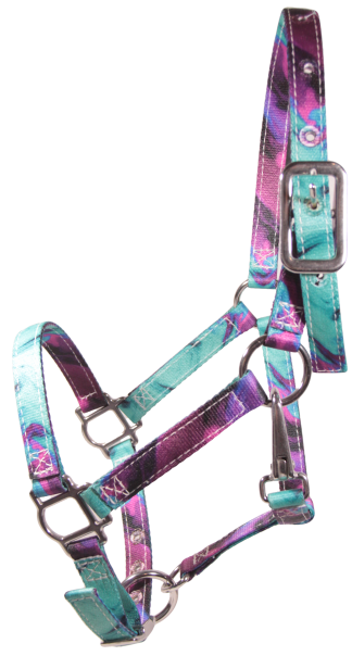 Patterened Halter Wicked Purple