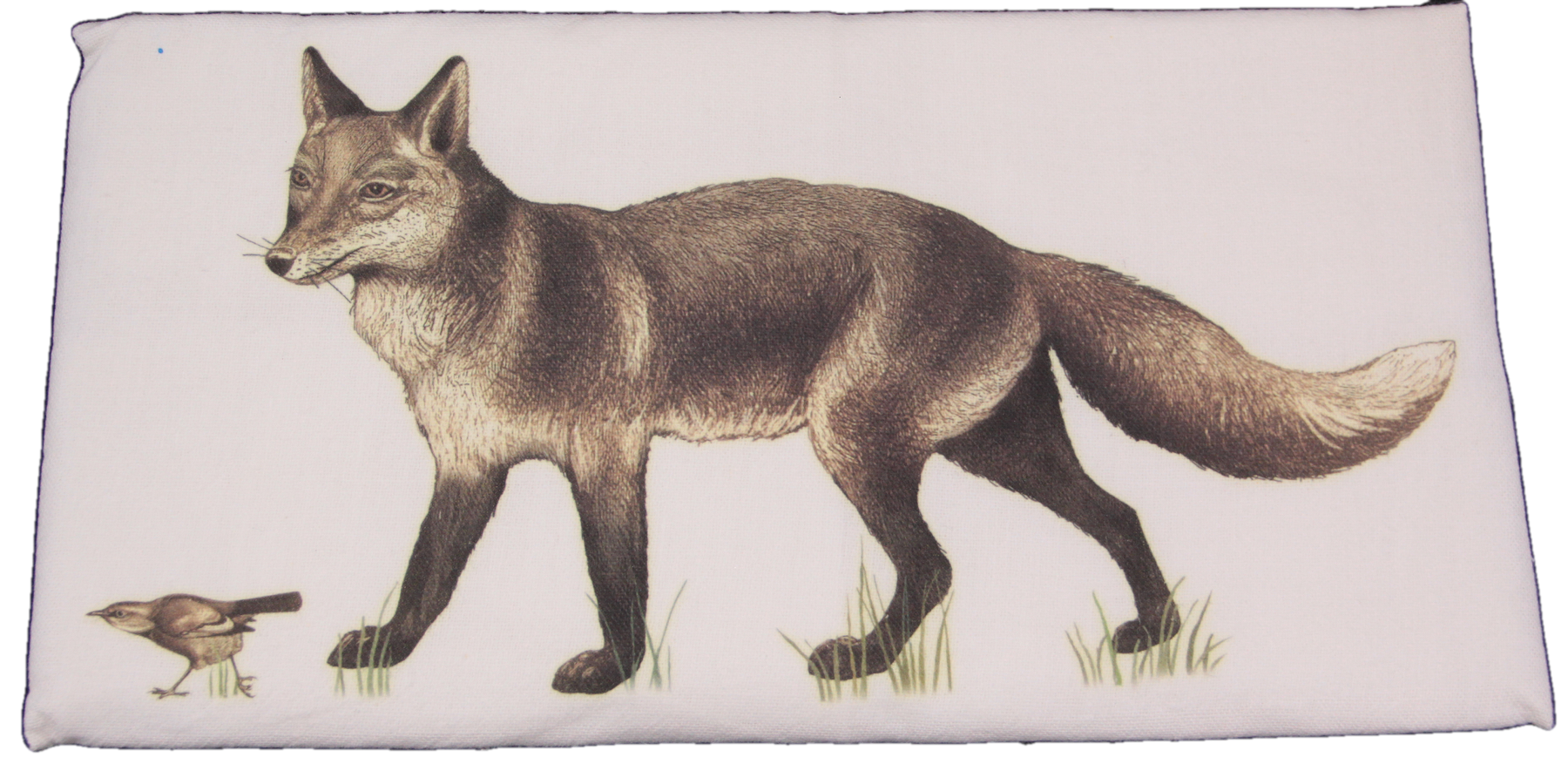Mary Lake-Thompson Vintage Fox and Bird Flour Sack Dish Towel