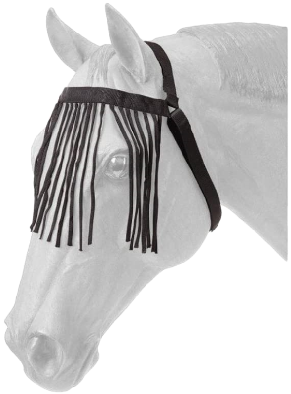 Tough 1 Miniature Horse Durable Black Nylon Fly Veil
