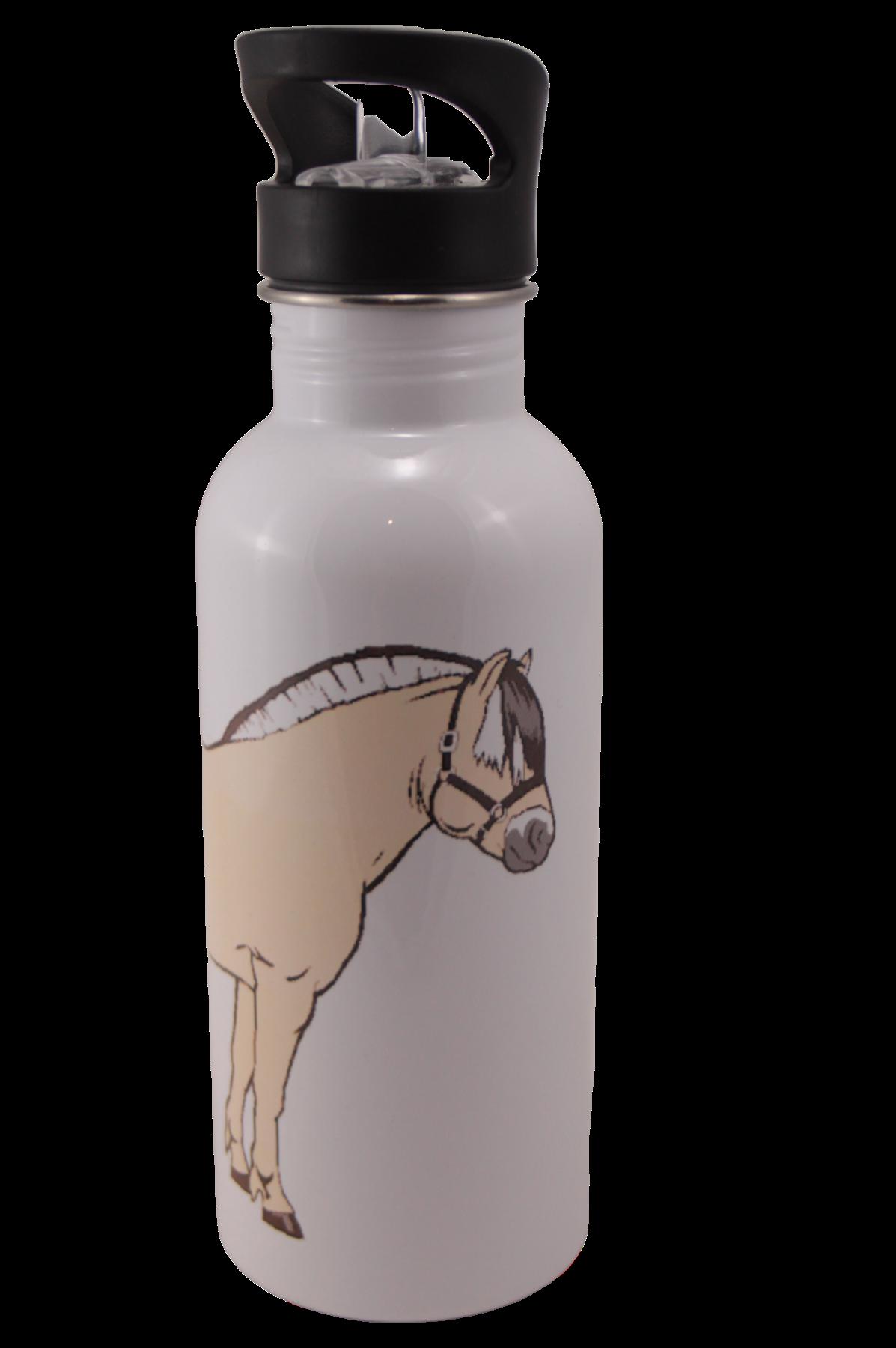 Norwegian Fjord Horse Aluminum Water Bottle