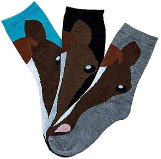 Awst Horse Face Ladies Crew Socks 3-Pack