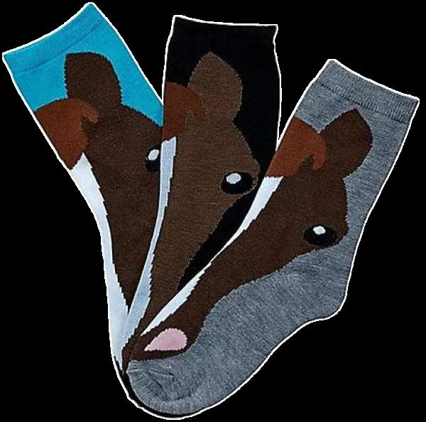 Awst Horse Face Ladies Crew Socks 3-Pack