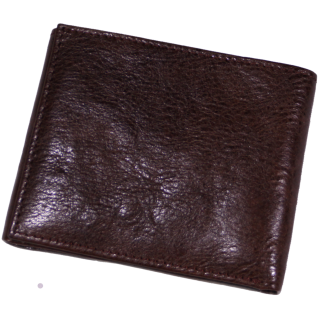 Dark Brown Smooth Leather Tri-Fold Wallet