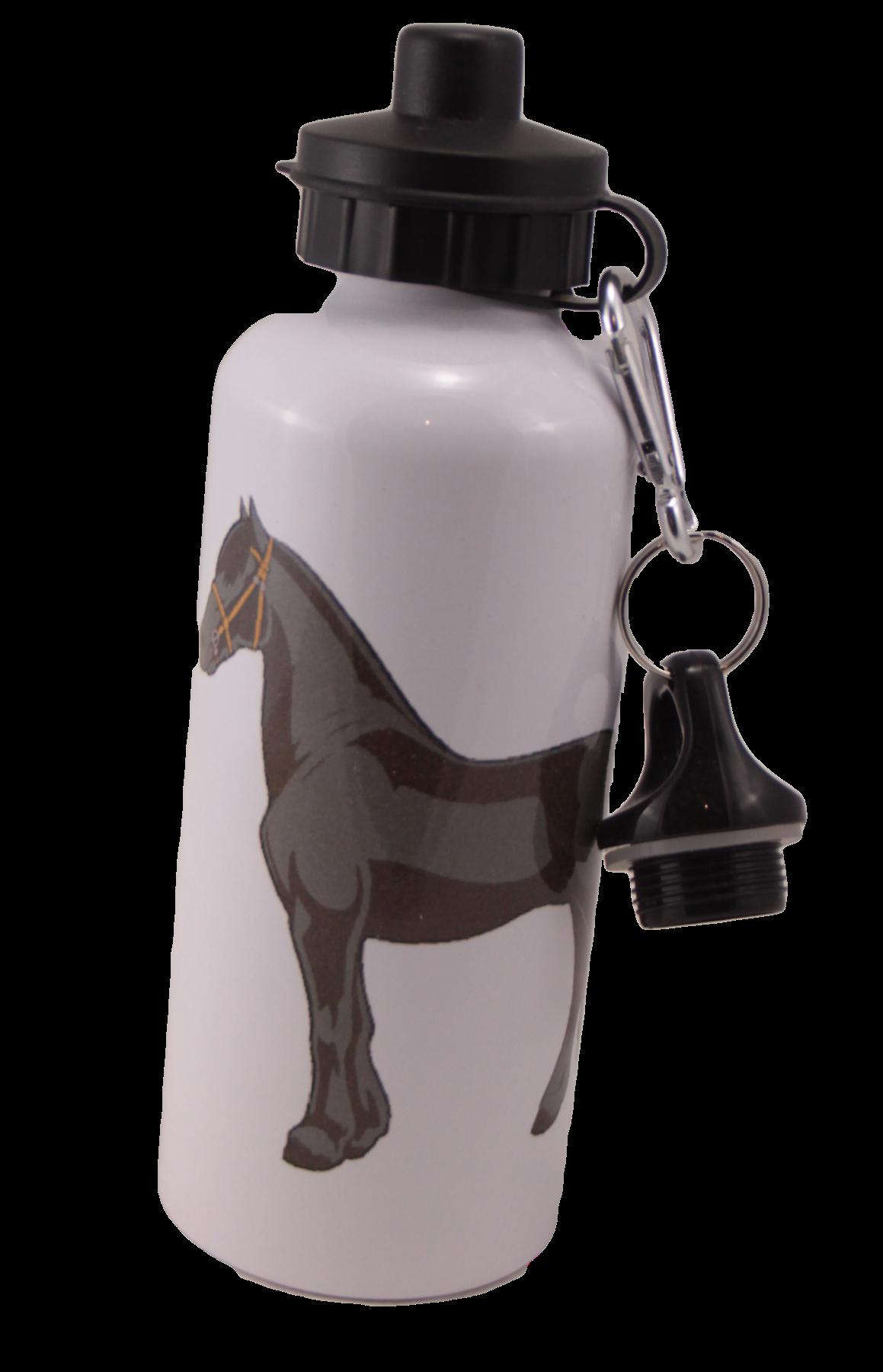 Friesian Horse Aluminum Water Bottle