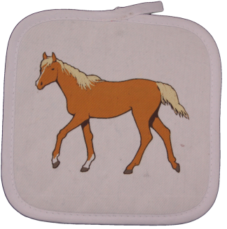 Arabian Horse White Square Potholder