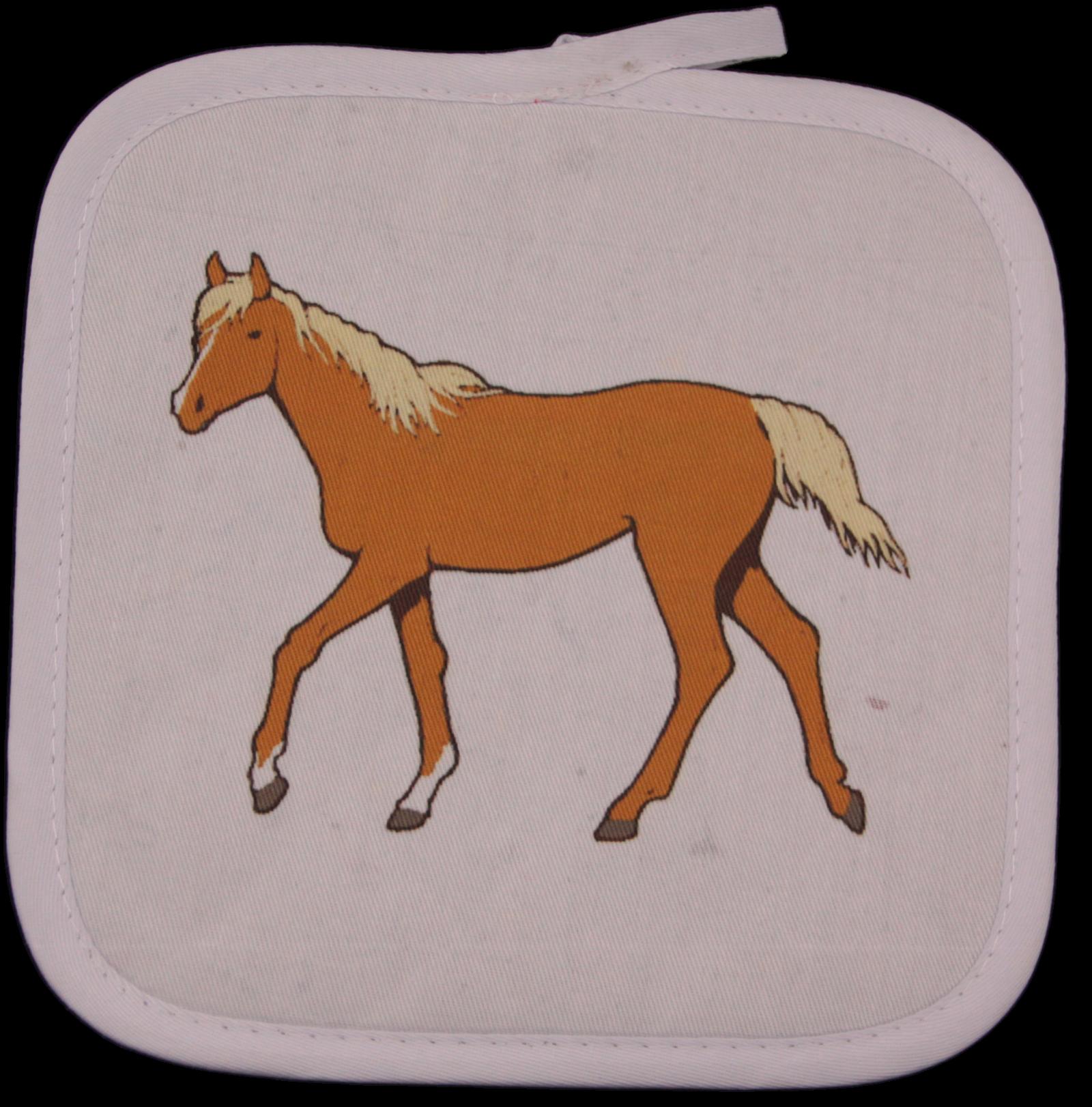 Arabian Horse White Square Potholder