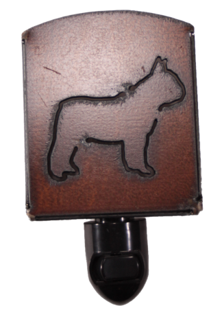 Universal Ironworks Rustic Metal French Bulldog Night Light
