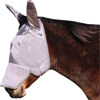 Cashel Crusader Fly Mask - Standard with Ears, Long Nose - Donkey