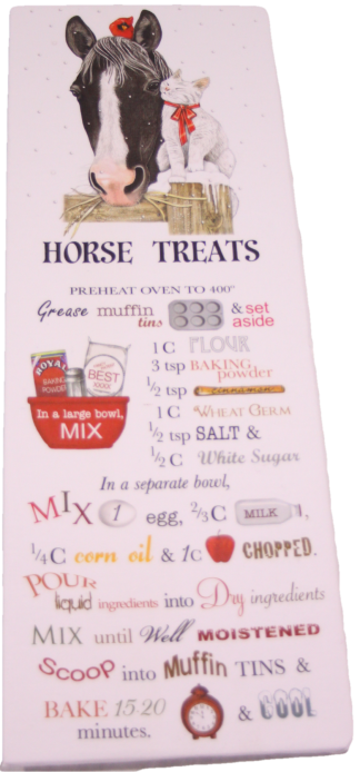 Treats for Your Horse Printed Flour Sack Dish Towel