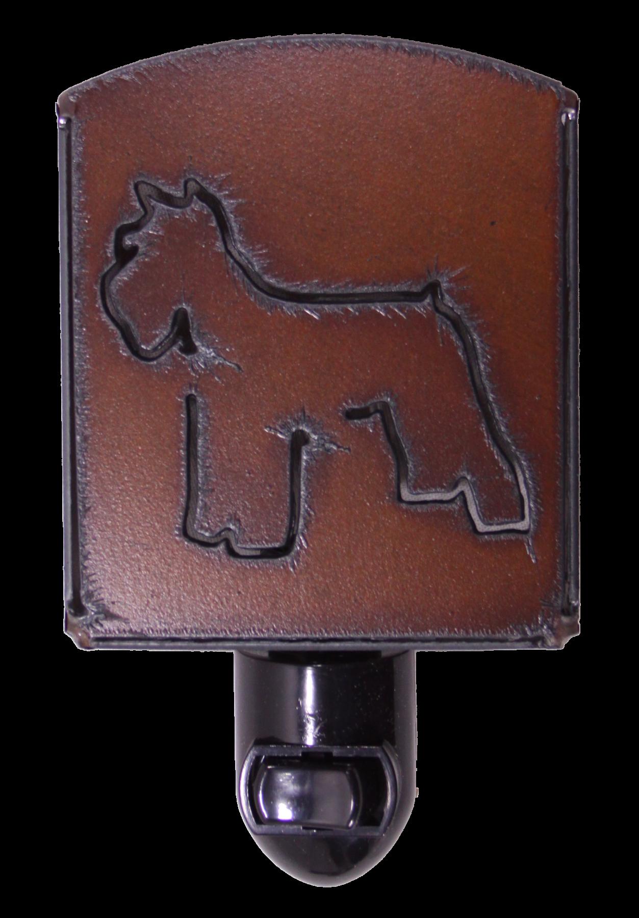 Universal Ironworks Rustic Metal Schnauzer Dog Night Light